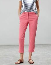 Joules Womens Hesford Crop Chinos - PINK Size 6