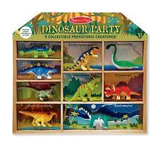 New! Melissa & Doug Dinosaur Party Play Set - 9 Collectible Dinosaurs w/Case!