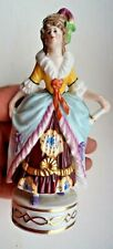EARLY 20TH CENTURY CHELSEA STYLE SITZENDORF? PORCELAIN FIGURE LADY IN BALL GOWN