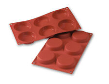 Silikomart Flexible Silicone Non-Stick Flan Baking Mold 6 Cavities