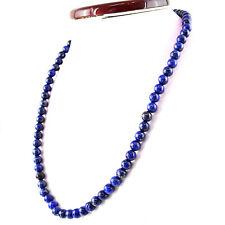 Round Shape 295.00 Cts Natural Blue Lapis Lazuli Beads Single Strand Necklace