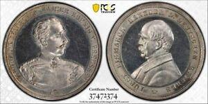 Germany silver medal No Date Bismarck Bennert-605 Silver PCGS SP63 [m570]