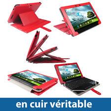 Rouge Étui Housse Case Cover Cuir pour Asus EeePad Transformer TF300 TF300T 10.1