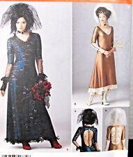 Simplilcity 1772 Pattern Steampunk Goth Victorian Wedding Dress Costume Sz 4-12