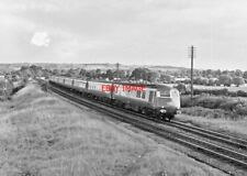 PHOTO  GWR BLUE PULLMAN  NR FENNY COMPTON 1964