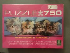 New! Kittens EuroGraphics Cats Under Blanket Jigsaw Puzzle 750 Piece Puzzle