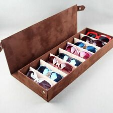 Sunglasses Storage Box 8 Slot Grid Display Rack Glasses Holder Organizer Boxes