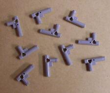 Lego 10 pistolas gris agentes pistola pantalones nozzle nuevo