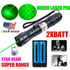900Miles Green Laser Pointer Rechargeable 532nm Visible Beam Star Cap Belt Clip