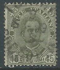 1881-96 REGNO USATO UMBERTO I 45 CENT - R13-9