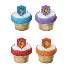 Shrek 2 Cupcake Rings- 10 Pce