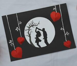 Handmade wedding anniversary card any year husband wife girlfriend boyfriend