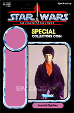 STAR WARS: POWER OF THE FORCE Imperial Dignitary (1985) Repro Kenner Cardback