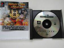 Mickeys salvaje aventura juego de Playstation 1 PS1 completo en muy buena condición/EX COND