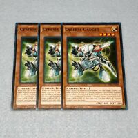 3x Yugioh Cyberse Gadget SDPL 1st Edition Common Card Playset NM