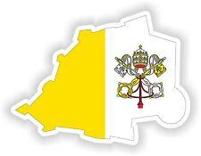 Sticker Silueta Del Vaticano Mapa Bandera Para Parachoques Guitarra Patineta Locker Tablet