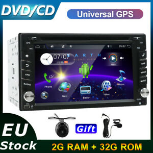 Android 10.0 Double Din Car Stereo Sat Nav FM/AM DVD/CD Player Wifi 4G SWC USB