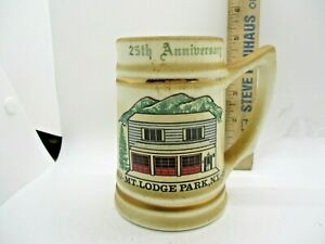 Mt. Lodge Park NY 25th Anniversary 1977 Fire Department Beer Stein Mug