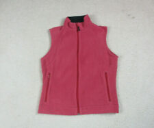 Columbia Vest Jacket Womens Medium Red Pink Full Zip Fleece Coat Outdoor Ladies
