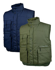 Delta Plus SIERRA Mens Padded Body Warmer Gilet Jacket Navy Blue Green Work Wear