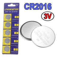 5 Batteries button CR2016 To car key 3v lithium battery