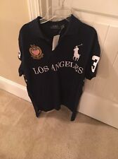 Polo Ralph Lauren Big Pony Custom Fit City Shirt New Men Size Large LOS ANGELES