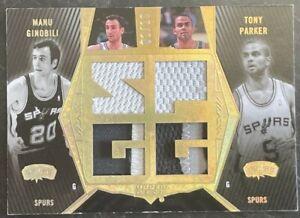 NBA Card 2007-08 Manu Ginobili Tony Parker UD Black Dual Patch 1/10 Spurs
