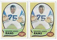 1970 Topps Deacon Jones Lot Of 2 No. 125 St. Louis Rams HOF!