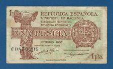 ESPAÑA // SPAIN -- 1 PESETA ( 1937 ) -- MBC- // VF -- SERIE C -- PICK 94 .