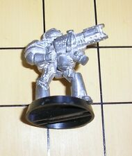 40k Rare oop vintage Metal Space Marine Grey Knight Trooper w Incinerator 31