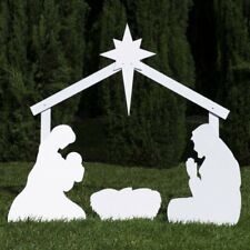 Silhouette Outdoor Nativity Set - Holy Family Yard Scene w Standard Crafted Size