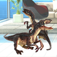 2 Velociraptors Raptors Moveable Jaw Arms Dinosaurs Figure Toys Model Best Gift