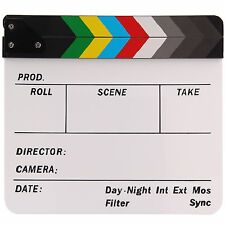 Director Scene Acrylic Clapperboard TV Movie Clapper Board Film Slate 30x24CM