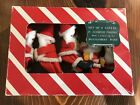 5 Vintage Lot Felt Santa Christmas Ornaments Montgomery Ward