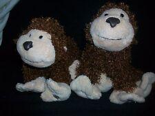 "LOT of 2 Webkinz Cheeky Monkey Plush 8"" Stuffed Animal With No Code"