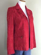 Tanjay Sz 8 Beautiful Red Jacket Zip Front Fully Lined Great Look Womens Size 8