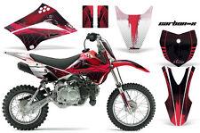 KLX110 Kawasaki Graphic Kit AMR Racing Bike Decal Sticker Kawi Part 10-13 CARBON