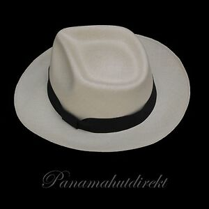 "Genuine Panama Hat - Montecristi ""Diamante"" fino fino,   Men Women Straw Fedora"