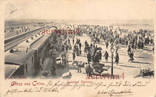 AK China Tsingtau Kiautschou Bahnhof Tientsin Deutsche Kolonien Postkarte 1902