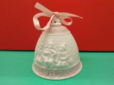 1987 Lladro First Annual Christmas Porcelain Ornament Bell in Box