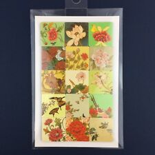 NEW Magnets Set Korean Folk Royal Painting Floral Hwajo-do Butterflies Asian Art