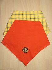 2 Baby-Halstücher für Mädchen/Jungen orange/gelb