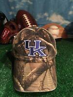 Rare Kentucky Wildcats camouflage camo adjustable strapback hat cap h43
