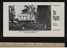 RARE 1915 Advertising Brochure - Poplars Hotel - Lake Champlain Chimney Point VT