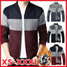 Men's Fur Lined Knitted Wool Jacket Coat Outwear Thick Warm Sweater Cardigan Top