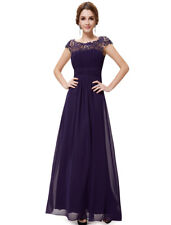 Ever-Pretty Purple Maxi Mother of Bride Dress Long Lace Wdedding Dresses 09993