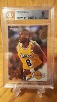 1996-97 NBA Hoops Kobe Bryant RC #281 Los Angeles Lakers BGS 9 MINT 2(9.5) $$$
