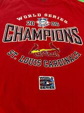 St. Louis Cardinals 2011 World Series Champions T-Shirt  size L