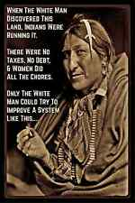 NATIVE AMERICAN WISDOM METAL SIGN 8X12 MEDICINE MAN INDIAN CHIEF PERFECT SYSTEM