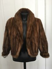 Mink Real Fur Pastel Cropped Jacket Coat 8/10/12